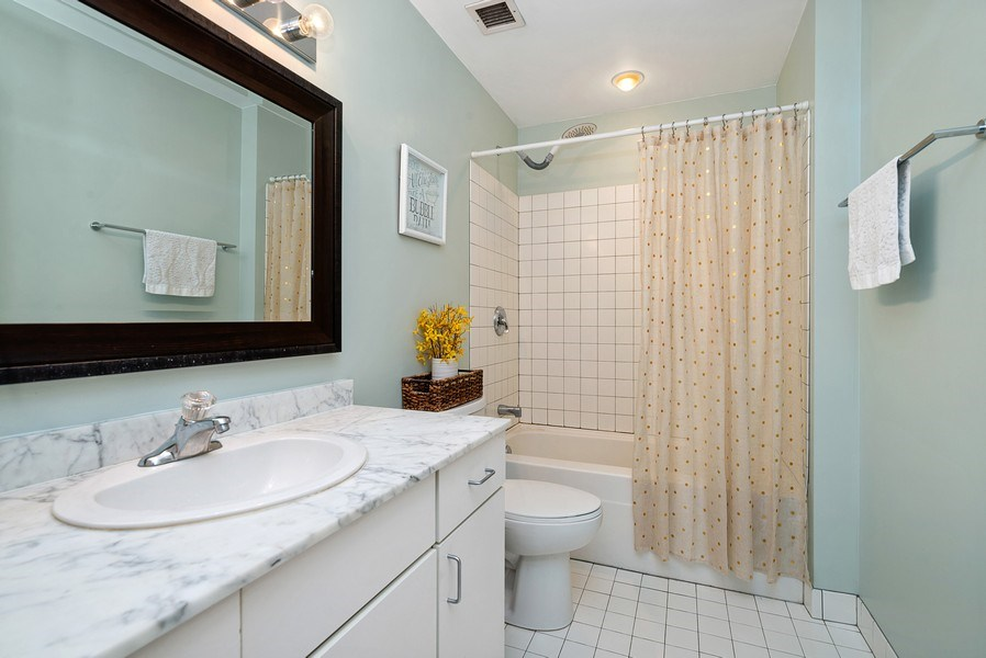 Real Estate Photography - 5 N Wabash, 1606, Chicago, IL, 60602 - Bathroom