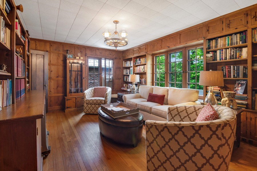 Real Estate Photography - 840 Sheridan Road, Glencoe, IL, 60015 - BEDROOM USED AS A LIBRARY
