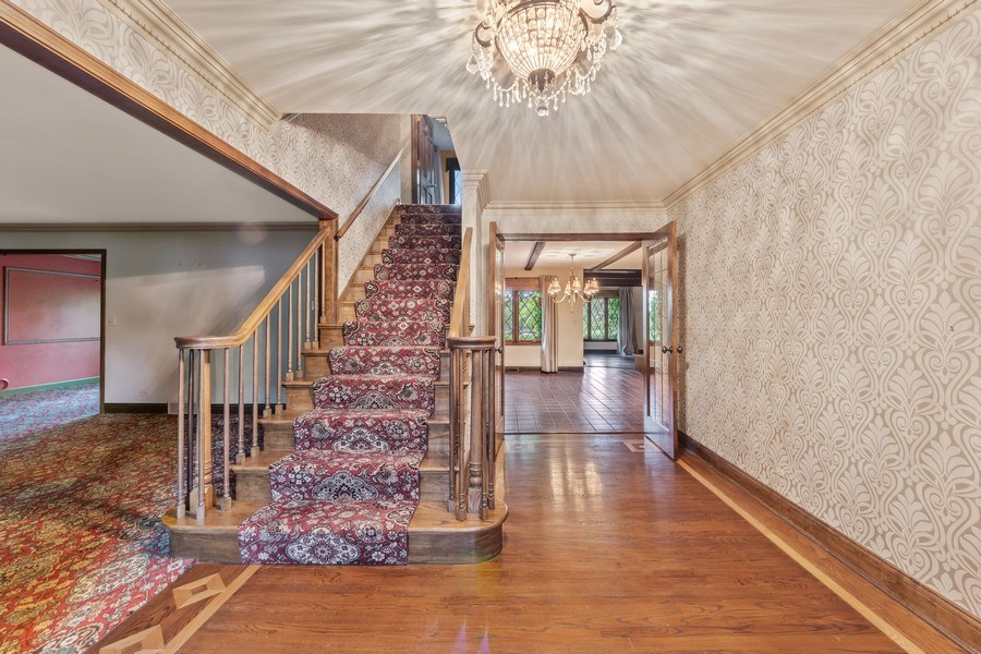 Real Estate Photography - 600 Ruskin Drive, Elk Grove, IL, 60007 - Foyer/Living Room