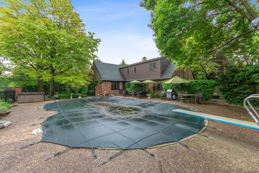 Real Estate Photography - 600 Ruskin Drive, Elk Grove, IL, 60007 - Rear View