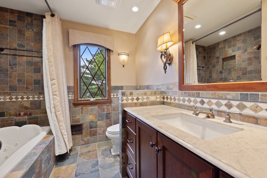 Real Estate Photography - 600 Ruskin Drive, Elk Grove, IL, 60007 - 2nd Bathroom
