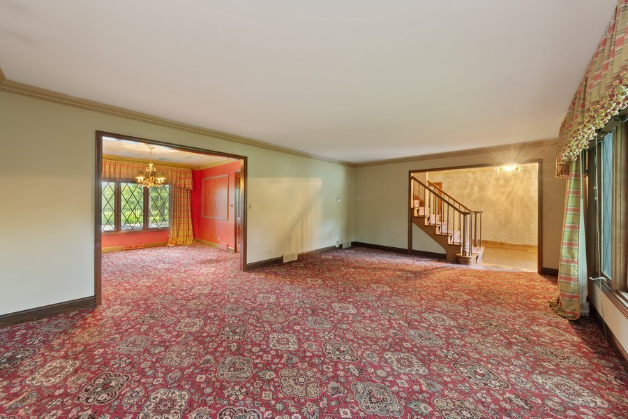 Real Estate Photography - 600 Ruskin Drive, Elk Grove, IL, 60007 - Living Room / Dining Room