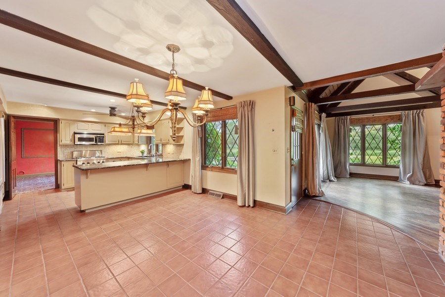 Real Estate Photography - 600 Ruskin Drive, Elk Grove, IL, 60007 - Family Room / Kitchen