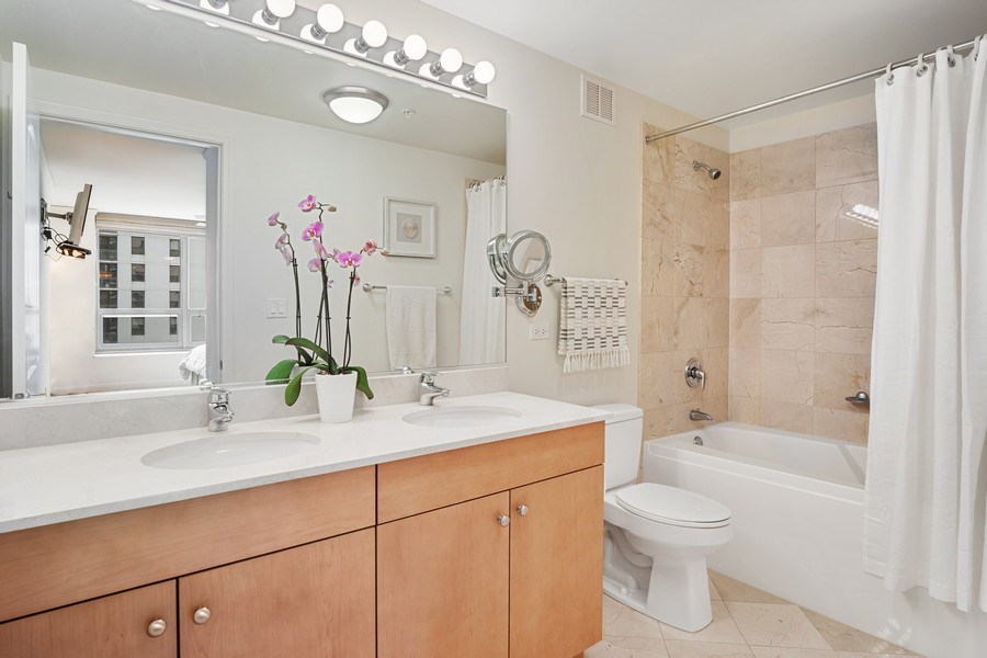 Real Estate Photography - 420 E. Waterside Dr, 1603, Chicago, IL, 60601 - Master Bathroom