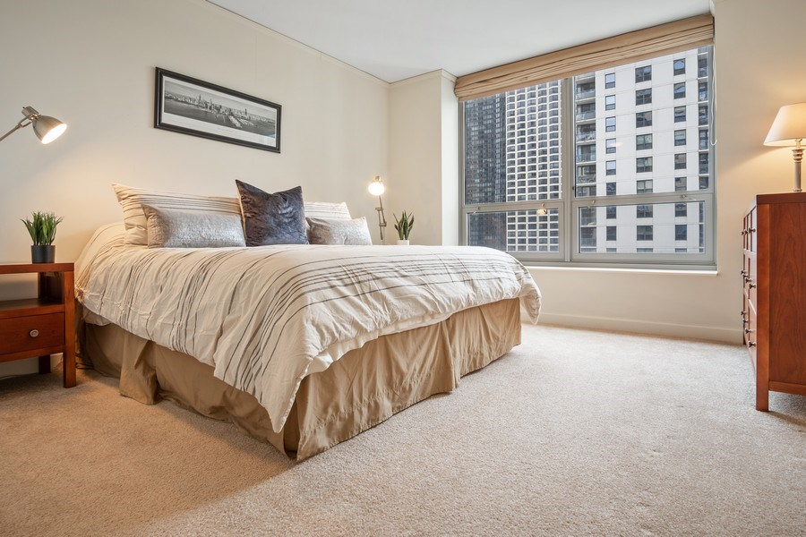 Real Estate Photography - 420 E. Waterside Dr, 1603, Chicago, IL, 60601 - Master Bedroom