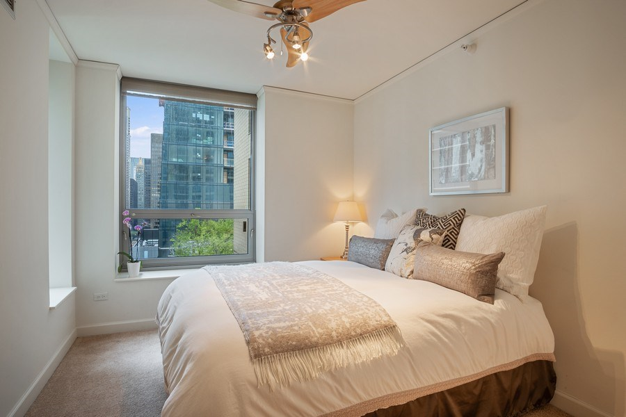 Real Estate Photography - 420 E. Waterside Dr, 1603, Chicago, IL, 60601 - Bedroom