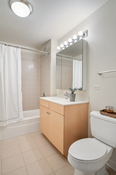 Real Estate Photography - 420 E. Waterside Dr, 1603, Chicago, IL, 60601 - Bathroom