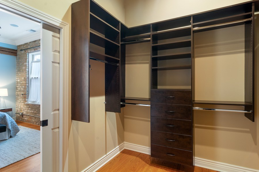 Real Estate Photography - 3201 N Ravenswood, #401, Chicago, IL, 60657 - Master Bedroom Closet