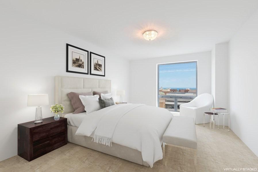 Real Estate Photography - 1640 Maple Avenue, 1207, Evanston, IL, 60201 - Master Bedroom