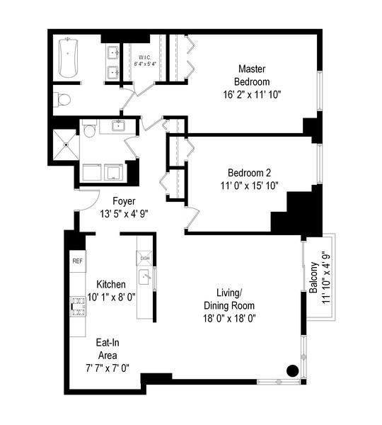 Real Estate Photography - 1640 Maple Avenue, 1207, Evanston, IL, 60201 - Floor Plan