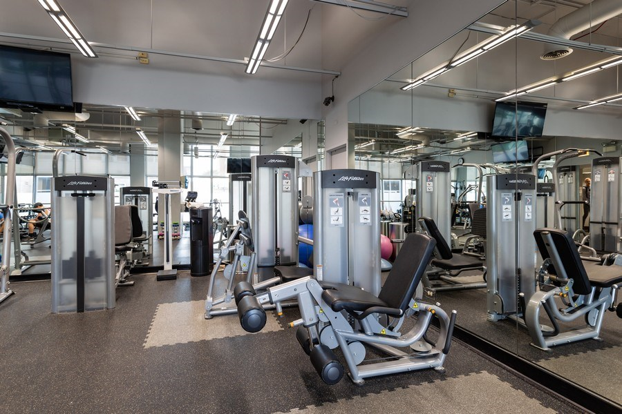 Real Estate Photography - 655 W Irving Park, 3216, Chicago, IL, 60613 - Gym