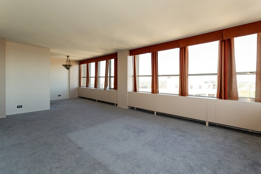 Real Estate Photography - 655 W Irving Park, 3216, Chicago, IL, 60613 - Living Room / Dining Room