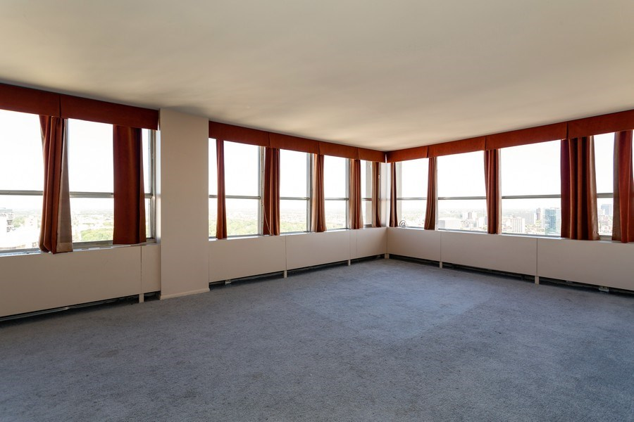 Real Estate Photography - 655 W Irving Park, 3216, Chicago, IL, 60613 - Living Room/Dining Room
