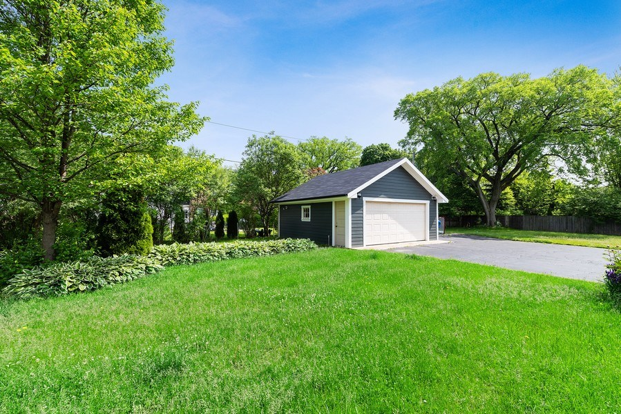 Real Estate Photography - 1159 Green Bay Road, Glencoe, IL, 60622 - Back yard - 2 Car Garage