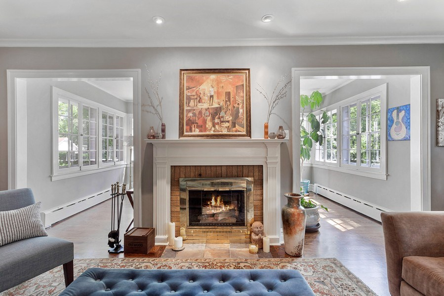 Real Estate Photography - 121 Thatcher, River Forest, IL, 60305 - Living Room