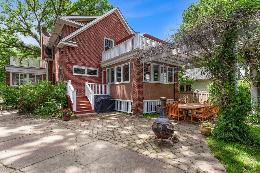 Real Estate Photography - 121 Thatcher, River Forest, IL, 60305 - Rear View