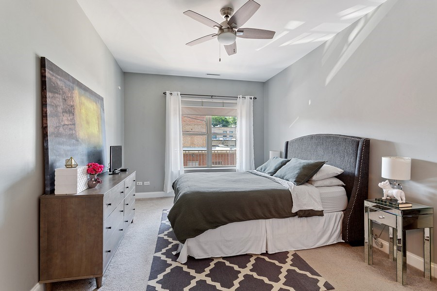 Real Estate Photography - 1801 W. Addison St., 2W, Chicago, IL, 60613 - Master Bedroom