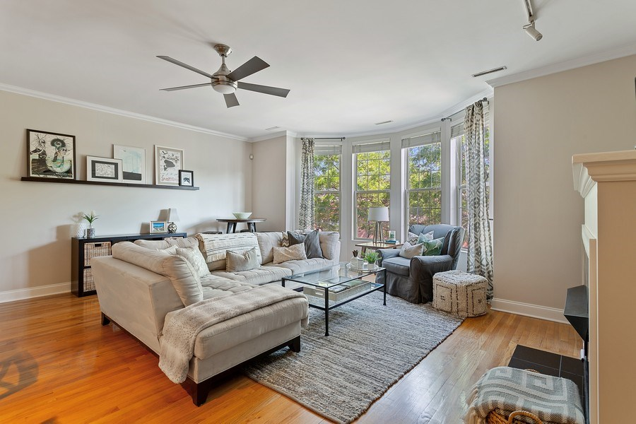 Real Estate Photography - 1801 W. Addison St., 2W, Chicago, IL, 60613 - Living Room / Dining Room