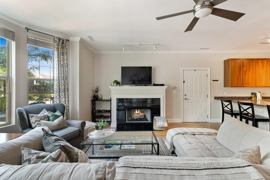 Real Estate Photography - 1801 W. Addison St., 2W, Chicago, IL, 60613 - Living Room/Dining Room