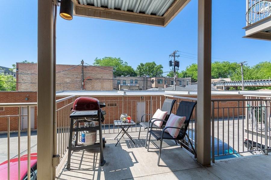 Real Estate Photography - 1801 W. Addison St., 2W, Chicago, IL, 60613 - Balcony