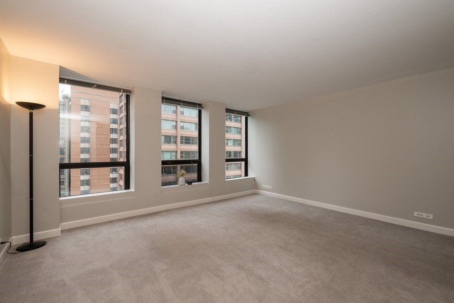 Real Estate Photography - 260 E Chestnut, Unit 1605, Chicago, IL, 60611 - Living Room