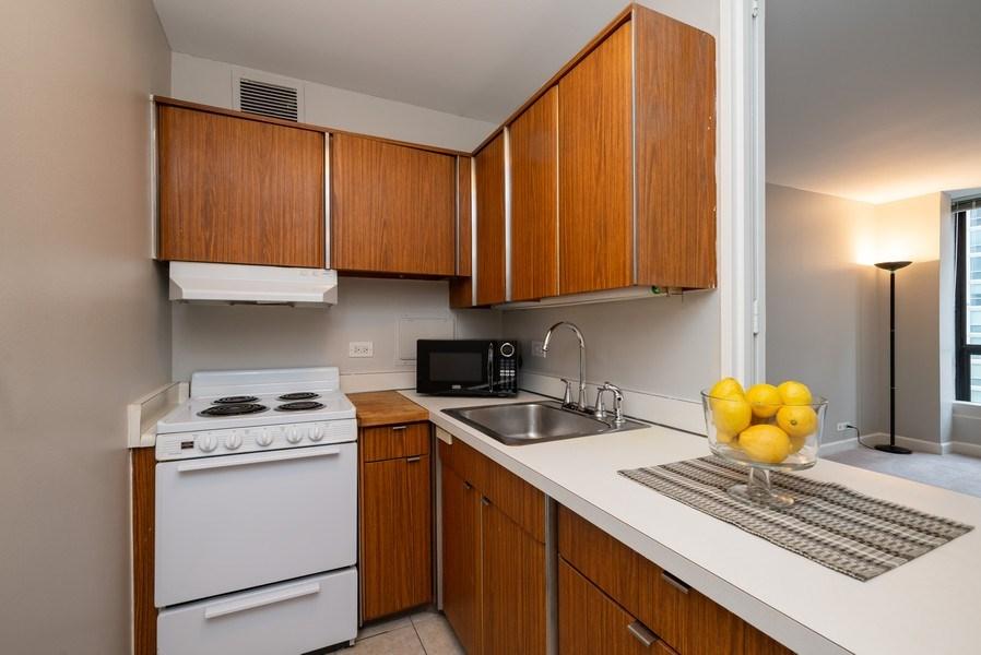 Real Estate Photography - 260 E Chestnut, Unit 1605, Chicago, IL, 60611 - Kitchen