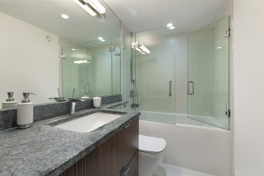 Real Estate Photography - 195 Harbor Dr #2405, Chicago, IL, 60601 - Master Bathroom