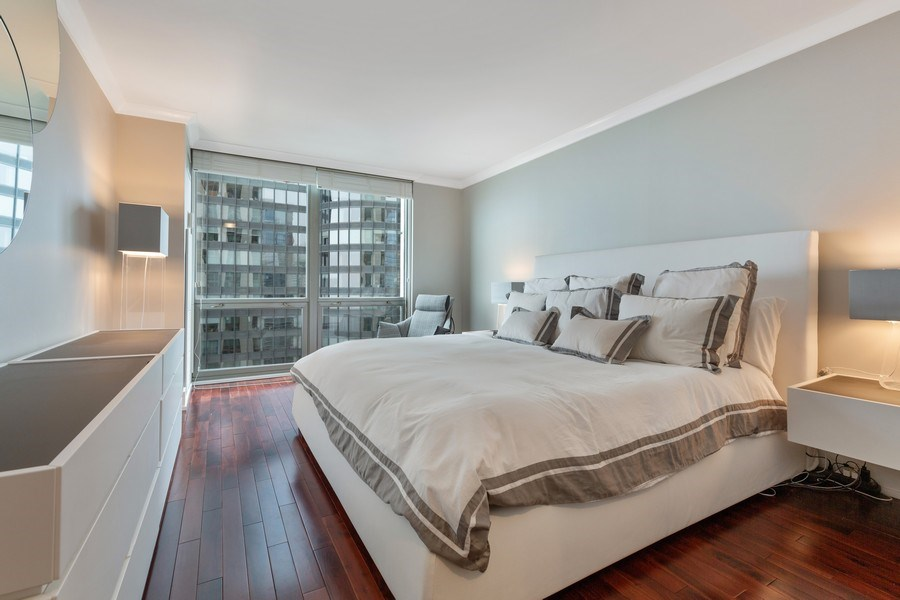 Real Estate Photography - 195 Harbor Dr #2405, Chicago, IL, 60601 - Master Bedroom