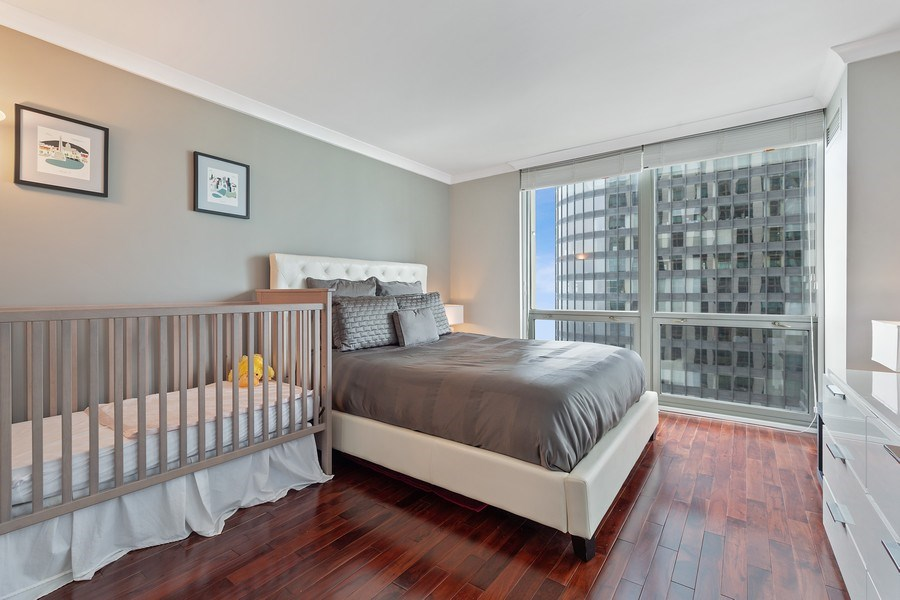 Real Estate Photography - 195 Harbor Dr #2405, Chicago, IL, 60601 - 2nd Bedroom