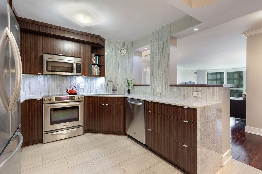 Real Estate Photography - 195 Harbor Dr #2405, Chicago, IL, 60601 - Kitchen