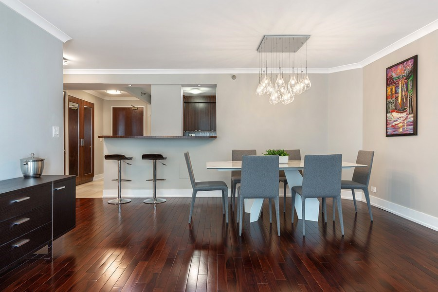 Real Estate Photography - 195 Harbor Dr #2405, Chicago, IL, 60601 - Dining Room
