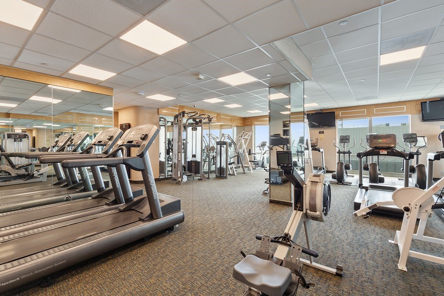 Real Estate Photography - 195 Harbor Dr #2405, Chicago, IL, 60601 - Fitness Room