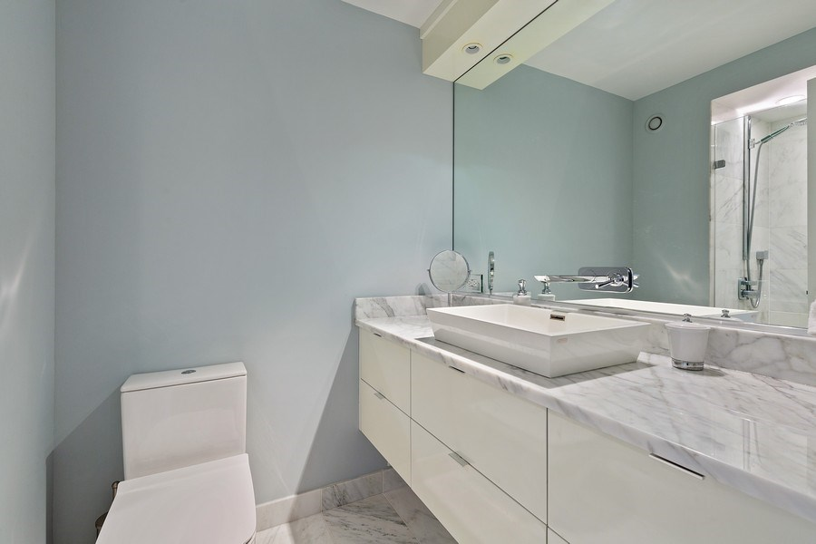 Real Estate Photography - 195 Harbor Dr #2405, Chicago, IL, 60601 - Bathroom