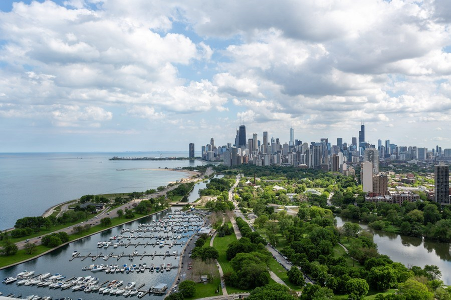 Real Estate Photography - 2800 Lake Shore Drive #706, Chicago, IL, 60657 - Roof Deck