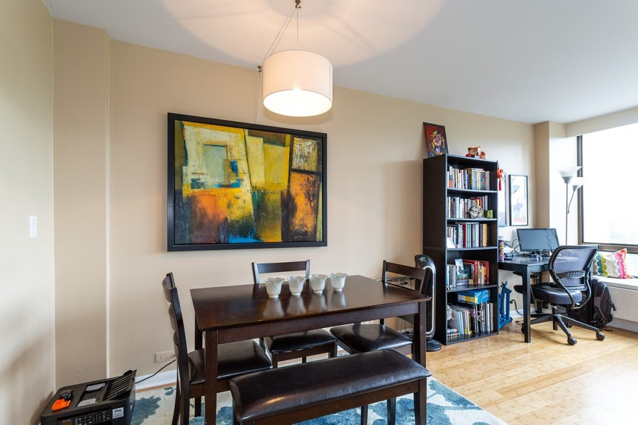 Real Estate Photography - 2800 Lake Shore Drive #706, Chicago, IL, 60657 - Dining Room