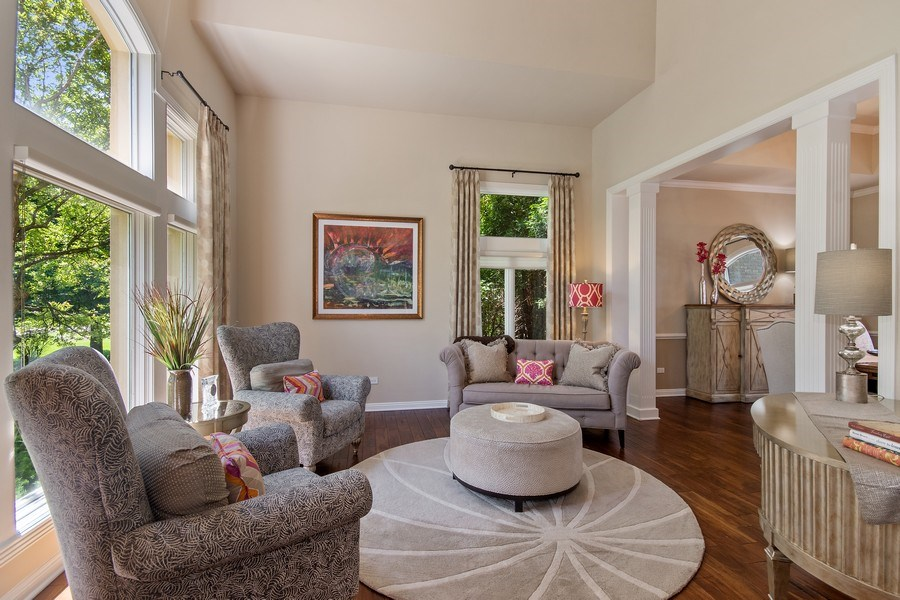 Real Estate Photography - 36W746 Whispering Trail, St. Charles, IL, 60175 - Living Room