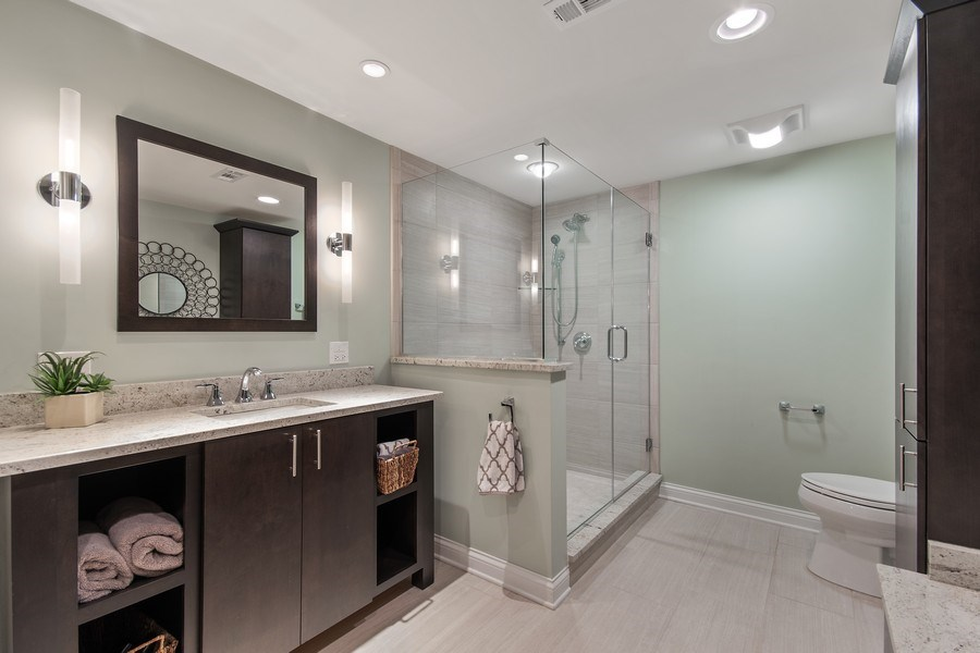Real Estate Photography - 36W746 Whispering Trail, St. Charles, IL, 60175 - Walkout basement bath