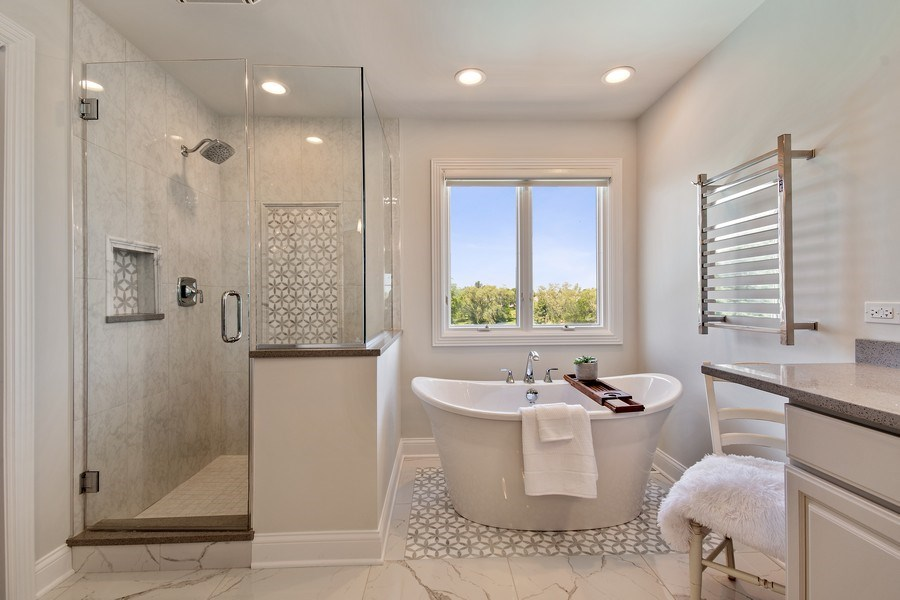 Real Estate Photography - 36W746 Whispering Trail, St. Charles, IL, 60175 - Master Bathroom