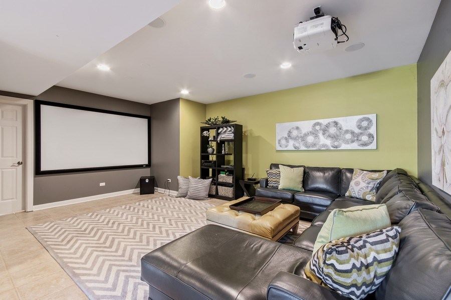 Real Estate Photography - 36W746 Whispering Trail, St. Charles, IL, 60175 - Media Room