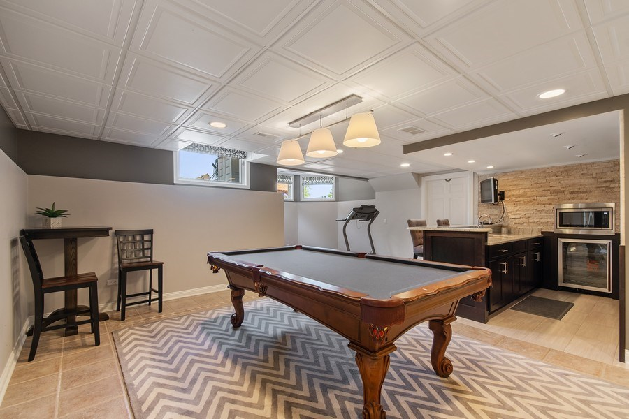 Real Estate Photography - 36W746 Whispering Trail, St. Charles, IL, 60175 - Rec Room/Bar