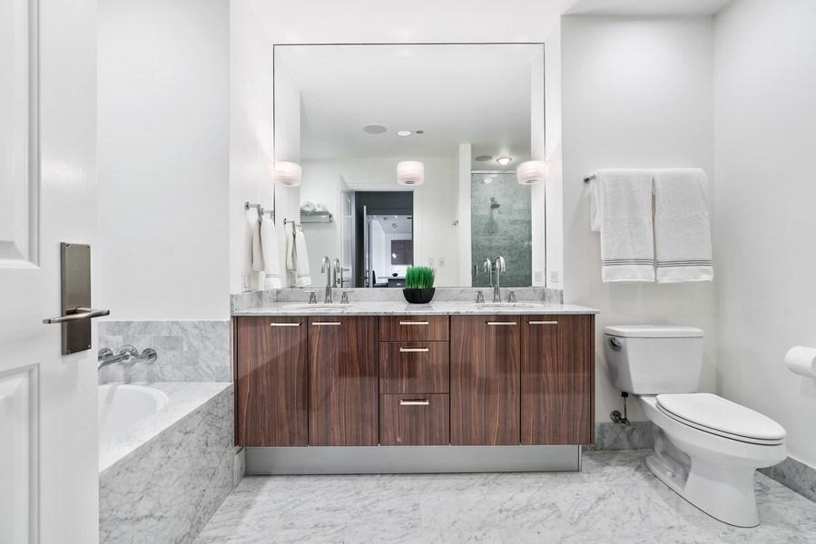 Real Estate Photography - 10 E Deleware Pl, 15A, Chicago, IL, 60611 - Master Bathroom