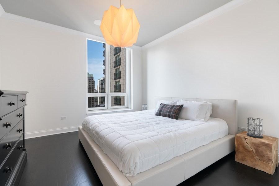 Real Estate Photography - 10 E Deleware Pl, 15A, Chicago, IL, 60611 - Master Bedroom
