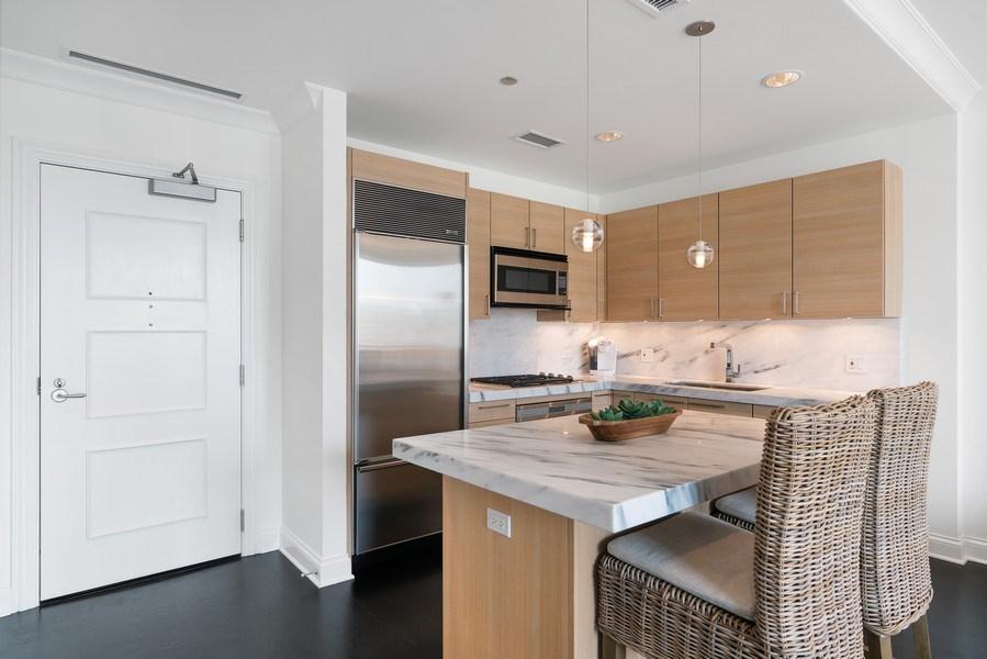 Real Estate Photography - 10 E Deleware Pl, 15A, Chicago, IL, 60611 - Kitchen