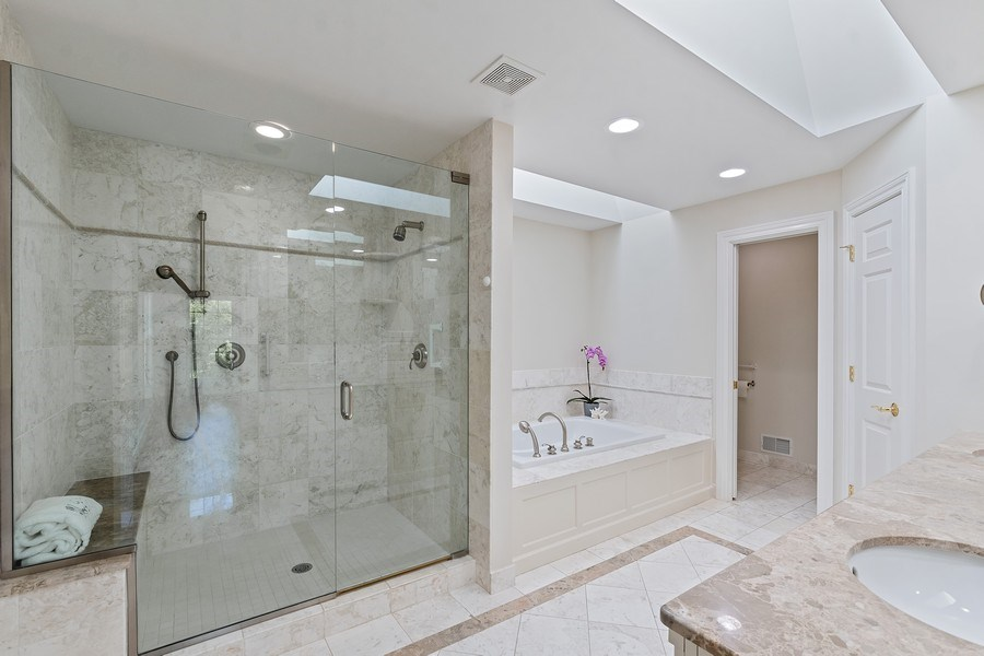 Real Estate Photography - 2888 Independence Ave, Glenview, IL, 60026 - Master Bathroom