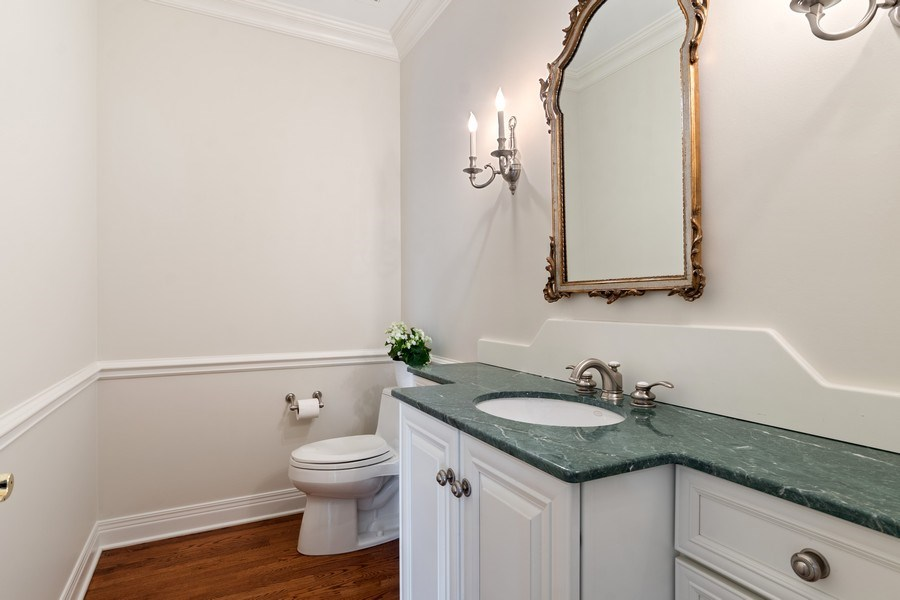 Real Estate Photography - 2888 Independence Ave, Glenview, IL, 60026 - Powder Room