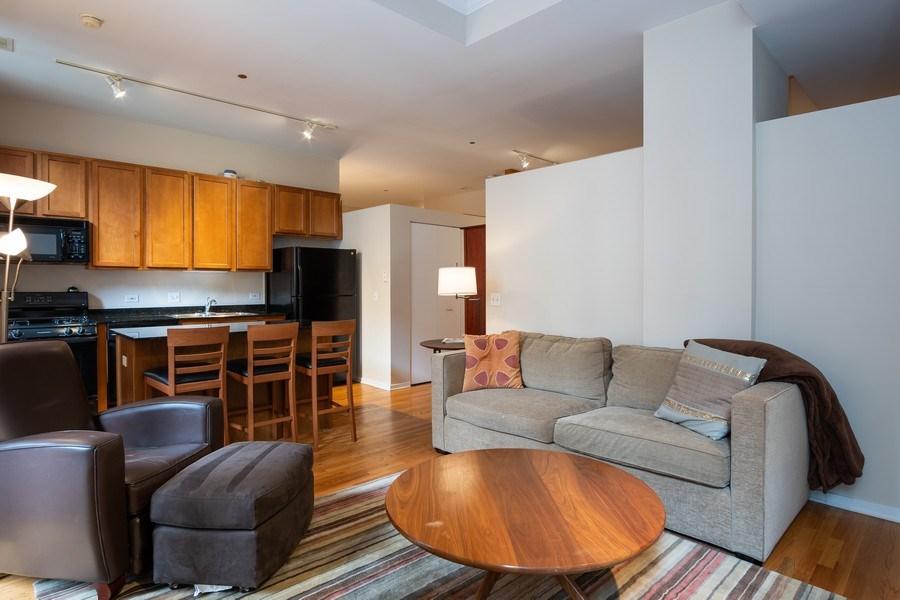 Real Estate Photography - 208 W Washington, Unit 808, Chicago, IL, 60606 - Kitchen/Living