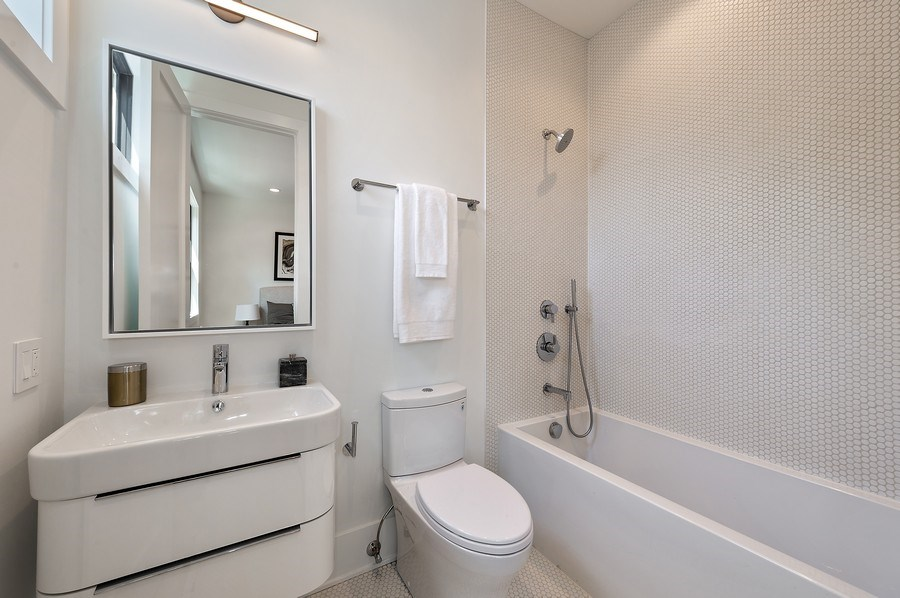 Real Estate Photography - 3647 Leavitt, Chicago, IL, 60618 - Bathroom Two