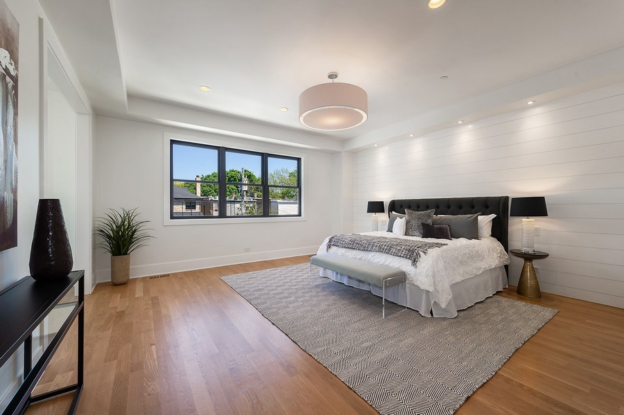 Real Estate Photography - 3647 Leavitt, Chicago, IL, 60618 - Master Bedroom