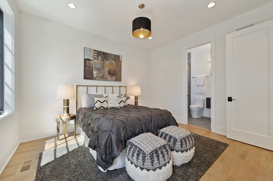 Real Estate Photography - 3647 Leavitt, Chicago, IL, 60618 - Bedroom Four