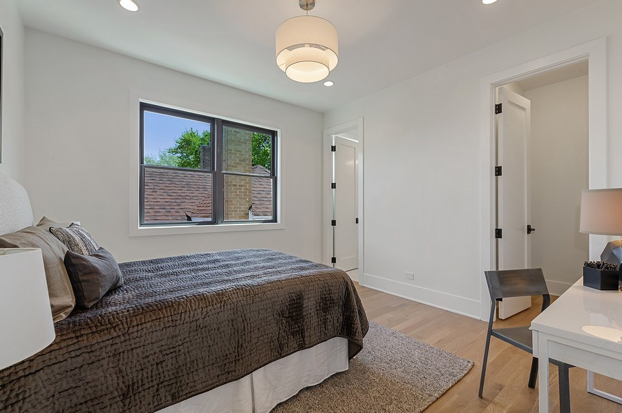 Real Estate Photography - 3647 Leavitt, Chicago, IL, 60618 - Bedroom Two